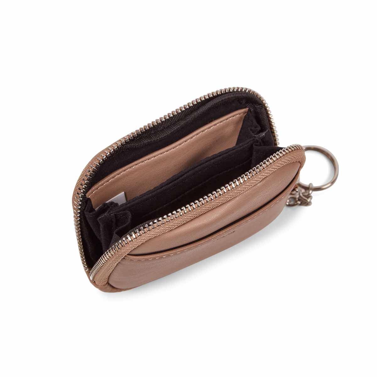 Lds nude zip up wallet