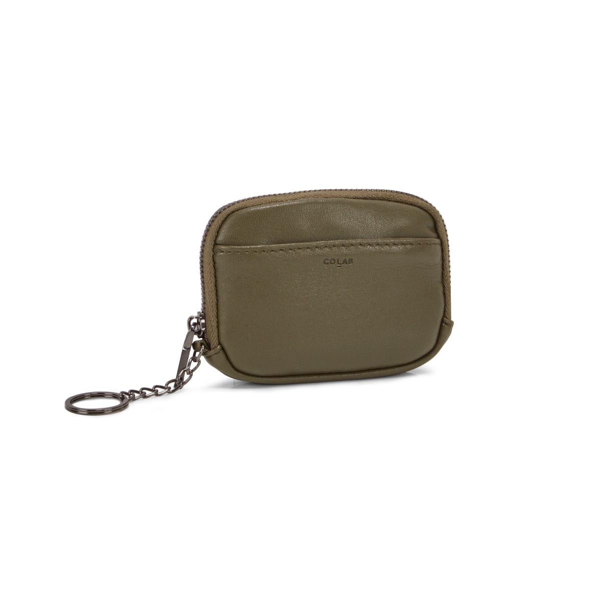 Lds olive zip up wallet