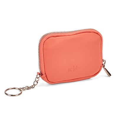 Lds peach zip up wallet