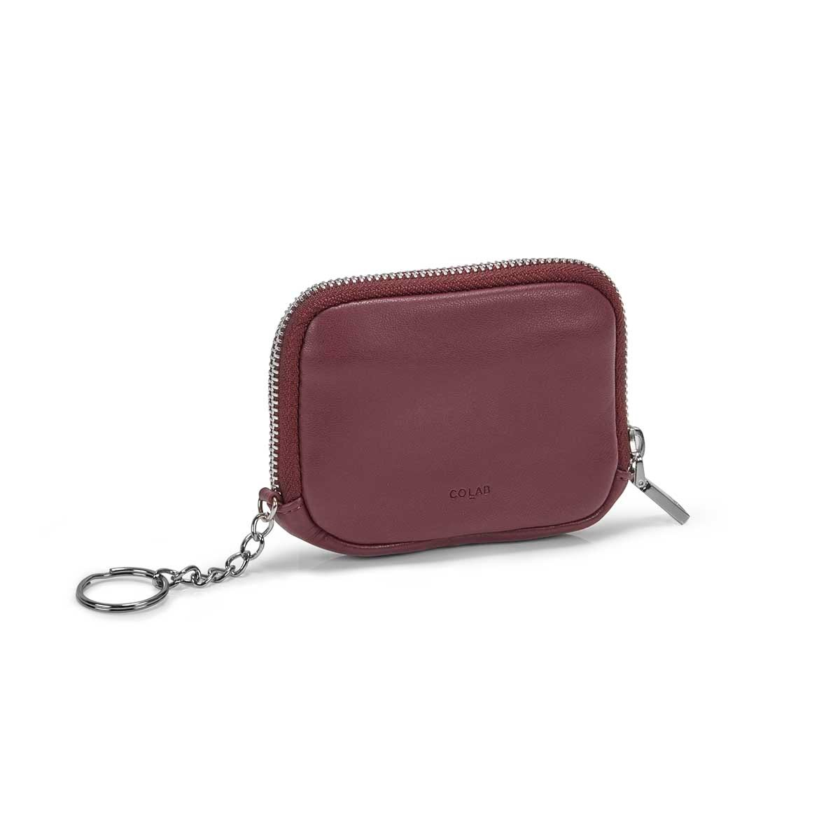 Women's ESSENTIALS plum zip up wallet