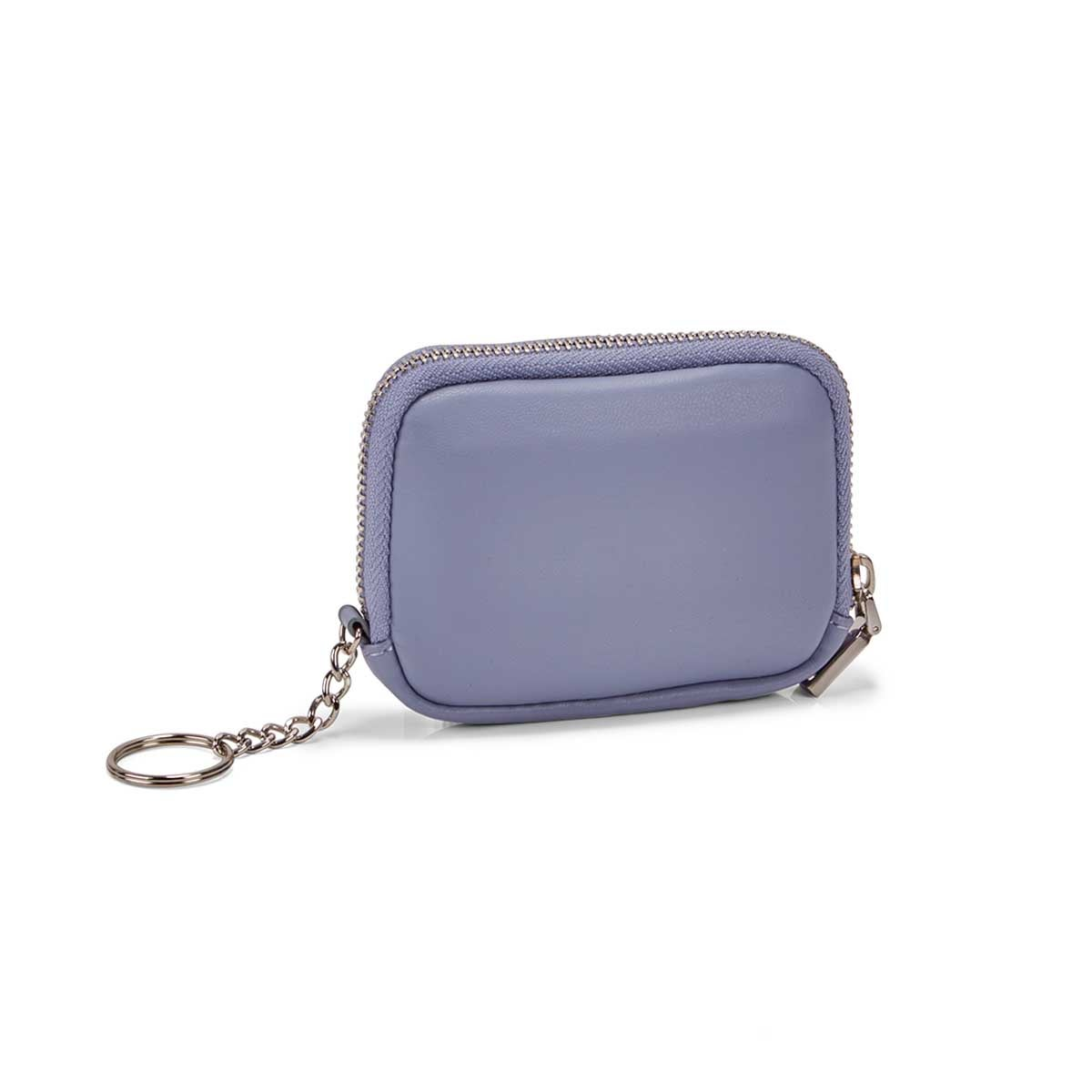 Women's periwinkle zip up wallet