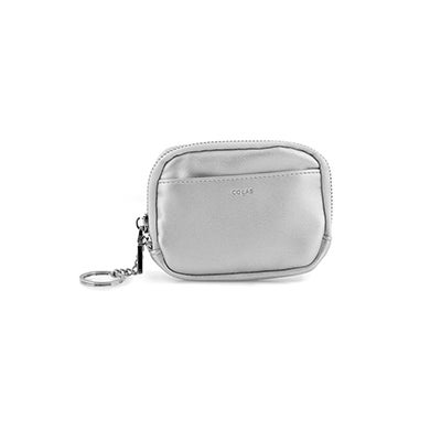 Co-Lab Women's silver zip up wallet