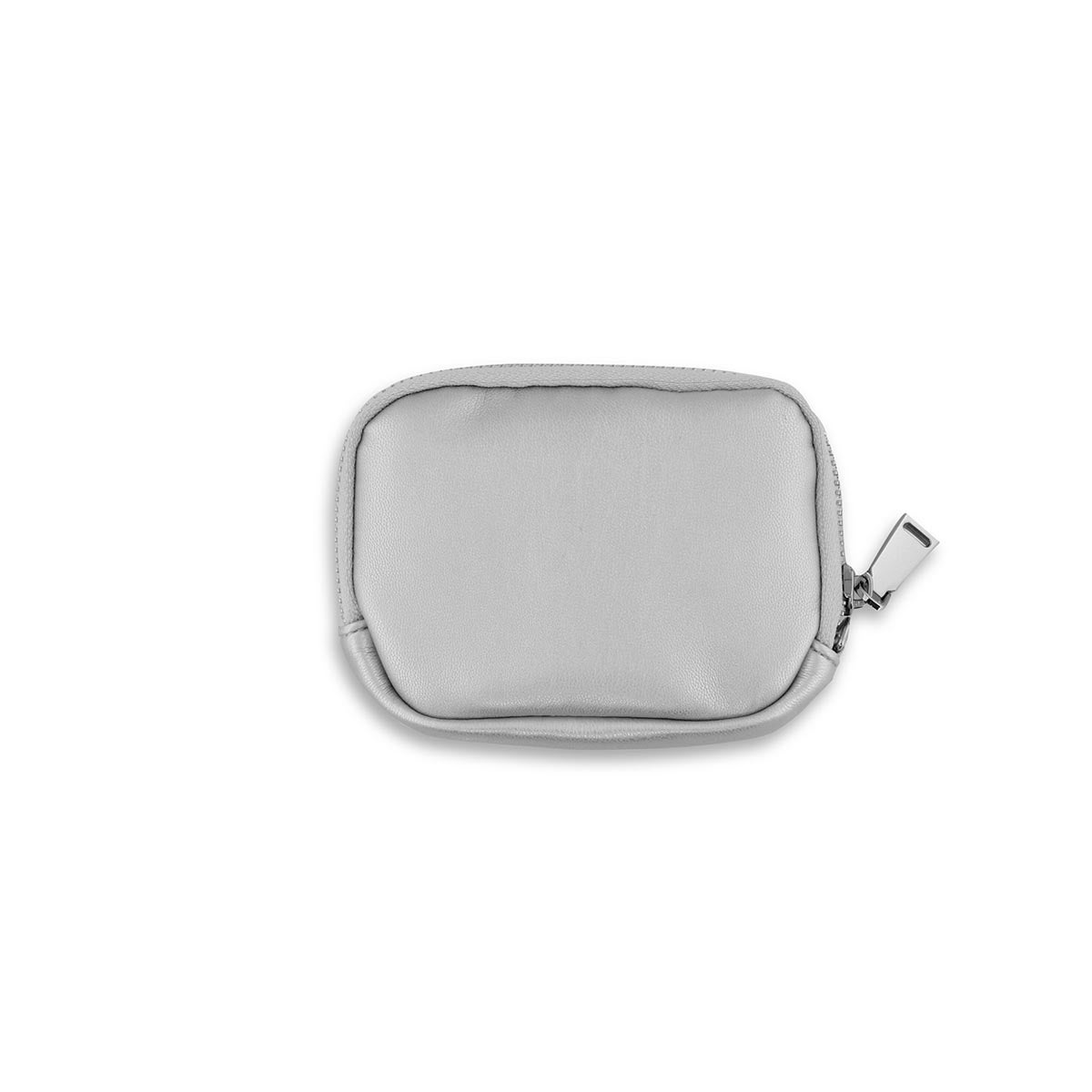 Lds silver zip up wallet