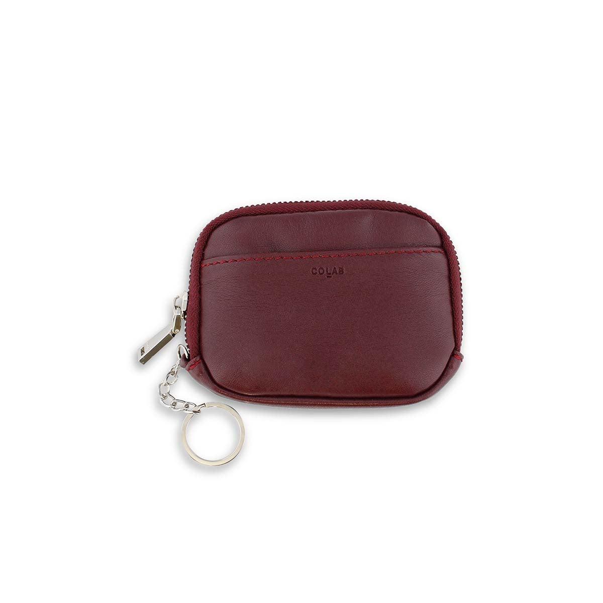 Lds wine zip up wallet