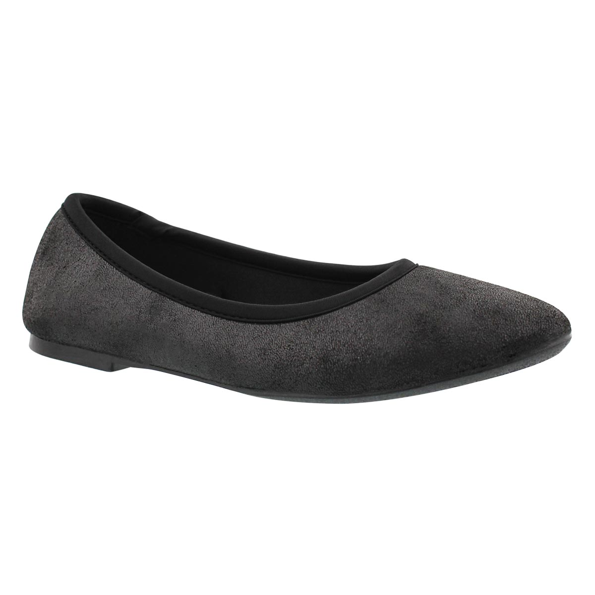Lds Cleo Sincere blk casual flat