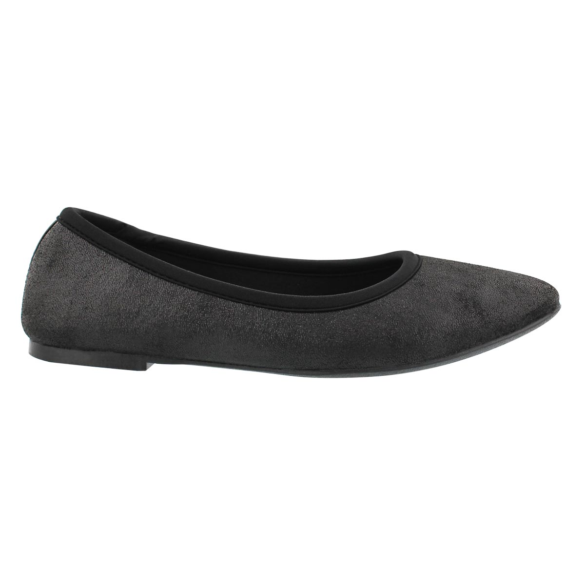 Lds Cleo Sincere black casual flat