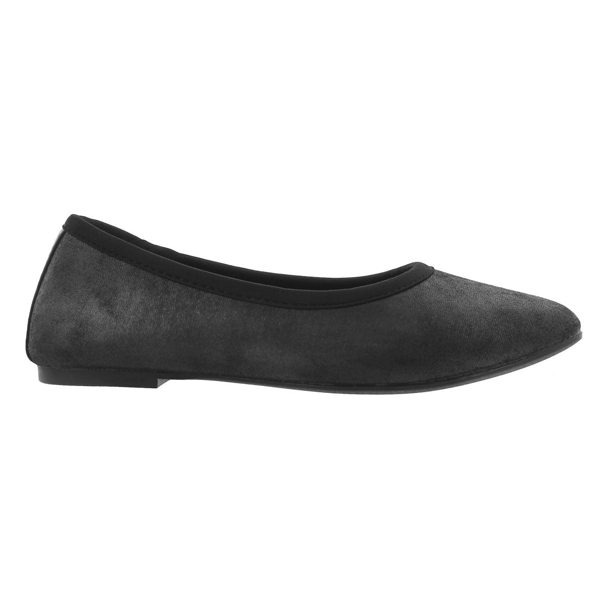 Lds Cleo Sincere black casual flat-wide