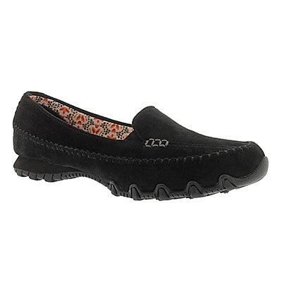 Lds Bikers Pedestrian blk slip on moc