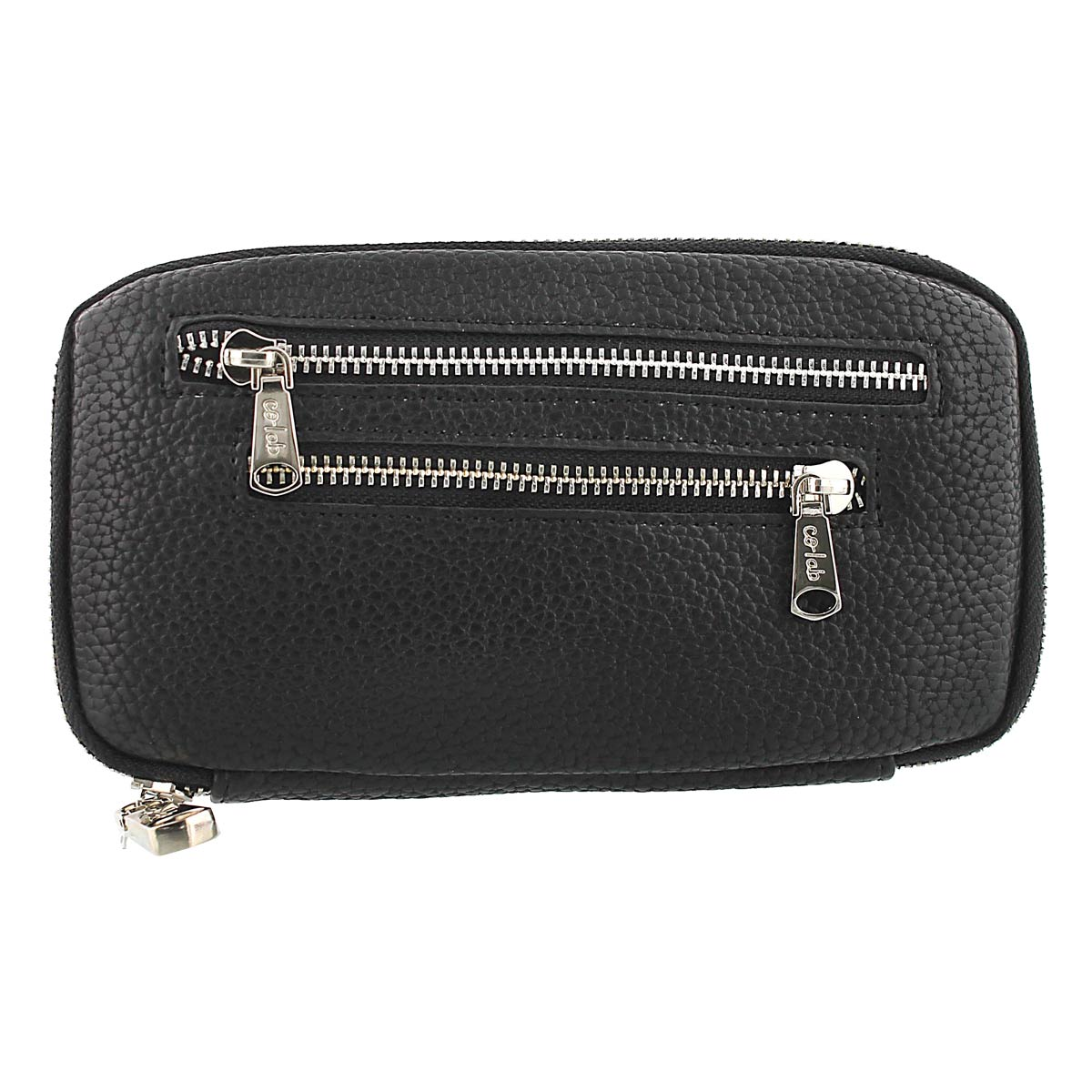 Lds Double Zip World black wallet