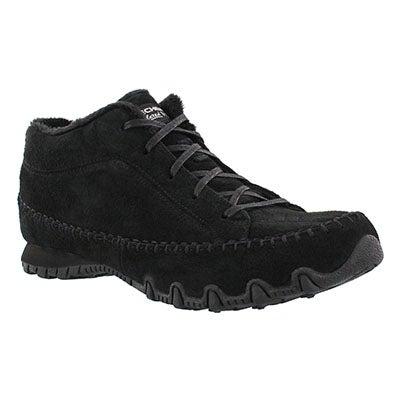 Skechers Women's BIKERS TOTEM POLE black chukka boots