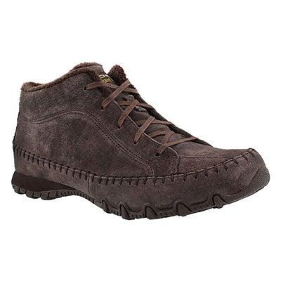 Skechers Women's BIKERS TOTEM POLE chocolate chukka boots