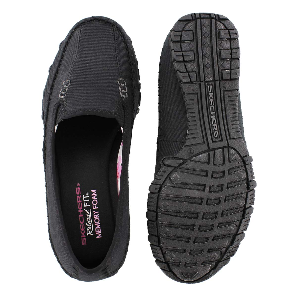 Lds Jaywalk black slip on casual shoe