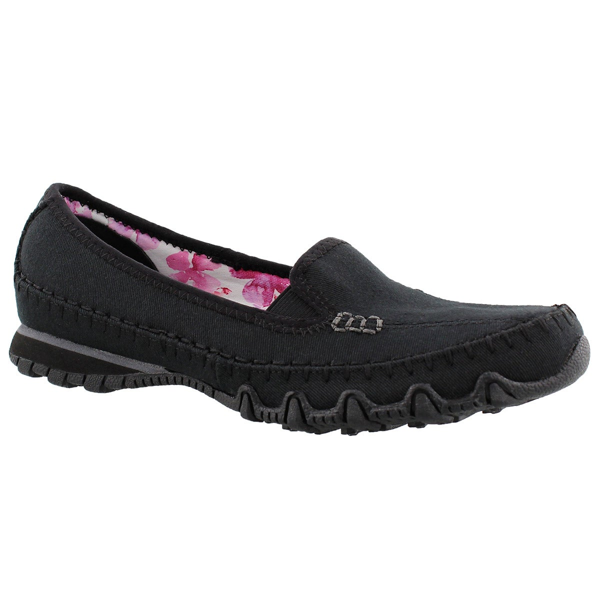 Lds Jaywalk black slip on casual shoe