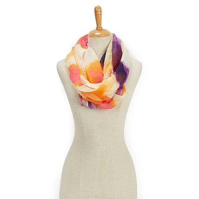 Fraas Women's PARADISE LOST SWIRL LOOP plum scarves