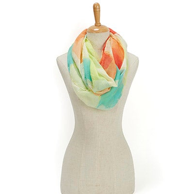 Lds Paradise Lost Swirl Loop lemon scarf
