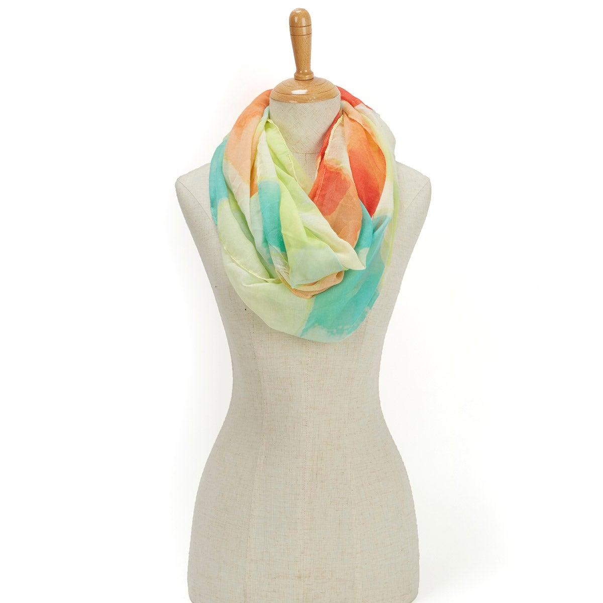 Lds Paradise Lost Swirl Loop lemon scarf