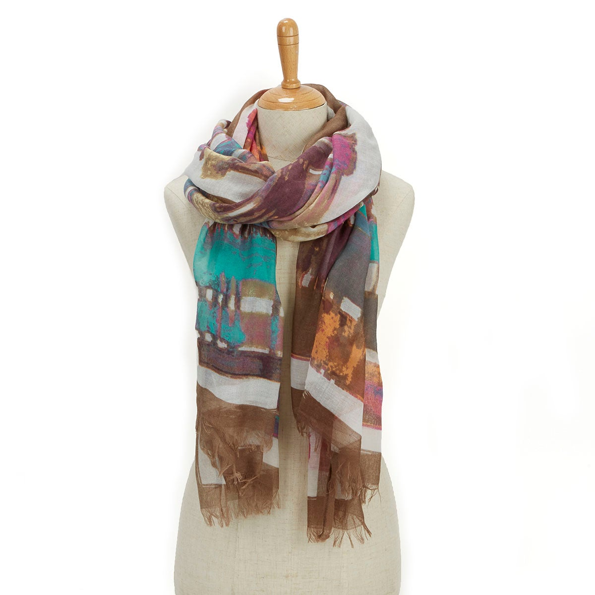 Lds Essentials Water Stripe multi scarf