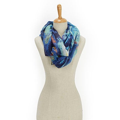 Fraas Women's PARADISE LOST IKAT LOOP blue scarves