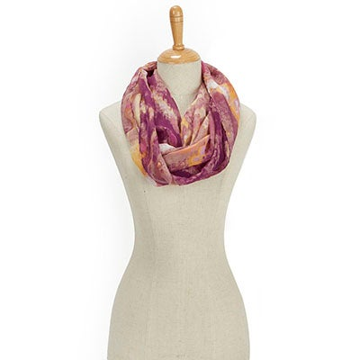 Fraas Women's PARADISE LOST IKAT LOOP plum scarves