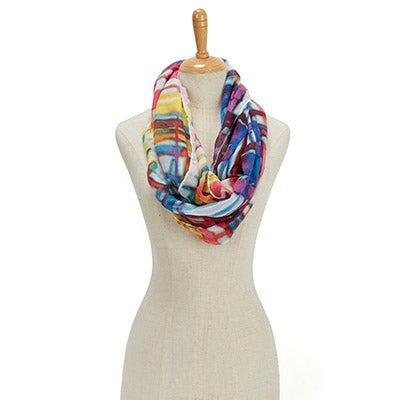 Fraas Women's ESSENTIALS WATER COLOR PLAID multi scarves