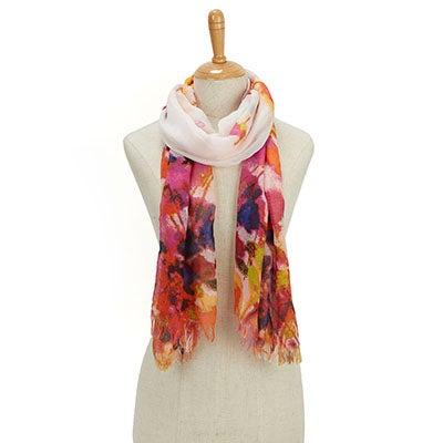 Fraas Women's GAUCHO GIRLS WATER FLORAL gold/pnk scarves