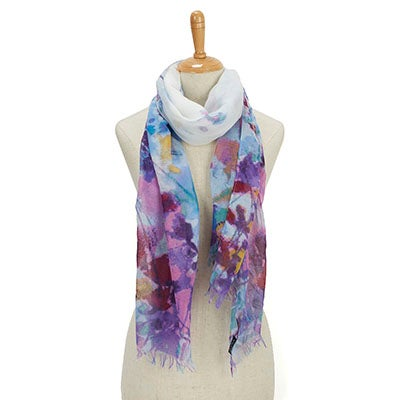 Fraas Women's GAUCHO GIRLS WATER FLORAL turq scarves