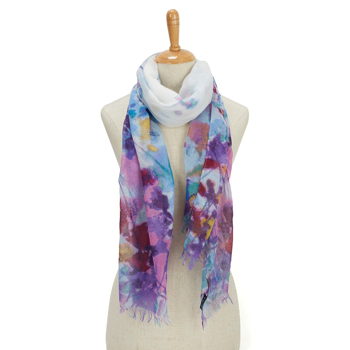 Women's GAUCHO GIRLS WATER FLORAL turq scarves
