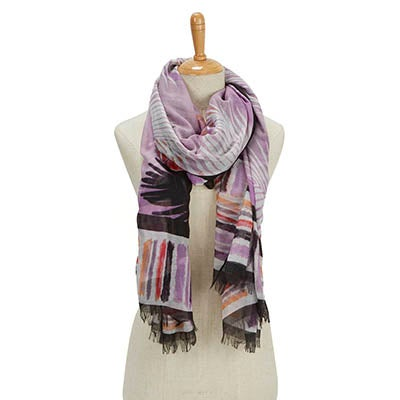 Fraas Women's PARADISE LOST PARADISE purple scarves
