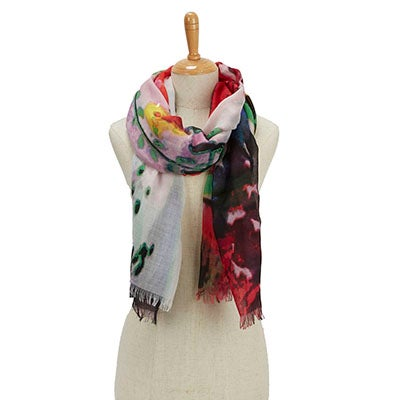 Fraas Women's PARADISE LOST EXPLODED FLORAL rose scarves