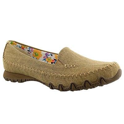 Lds Neverland tan slip on casual shoe