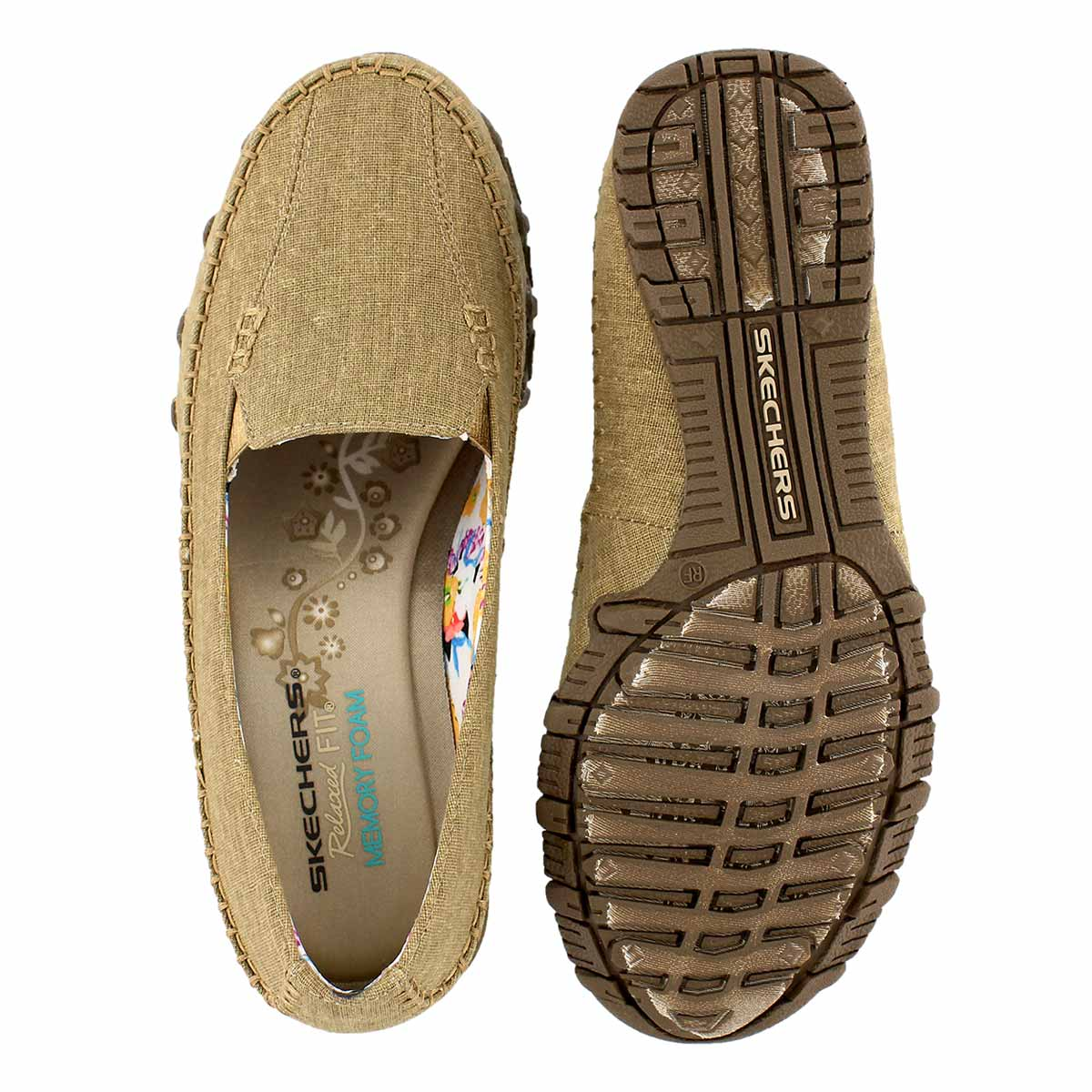 Lds Neverland tan slip on casual shoe