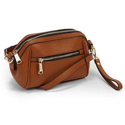Co-Lab Women`s THE BUCKET cognac cross body bag