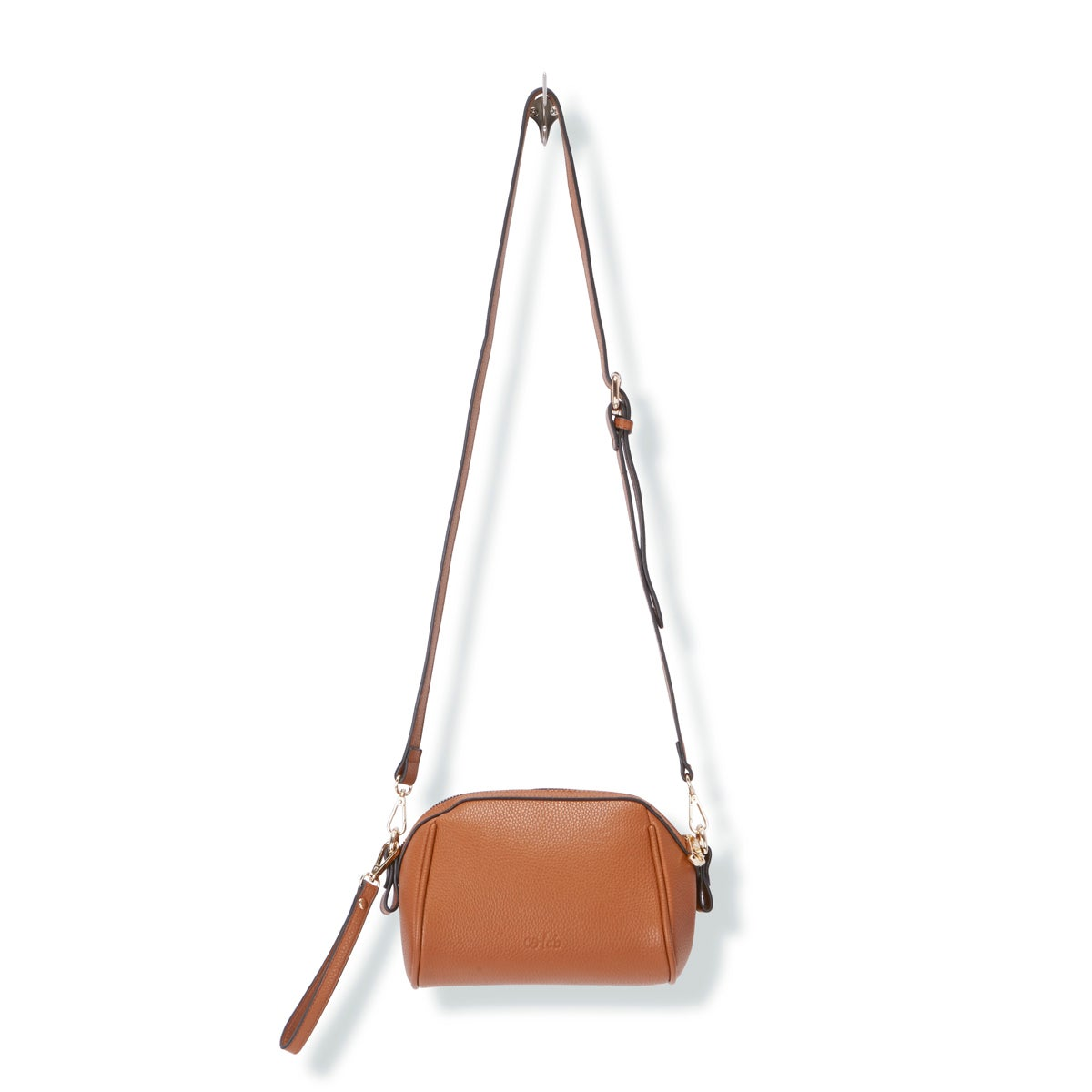 Lds The Bucket cognac cross body bag