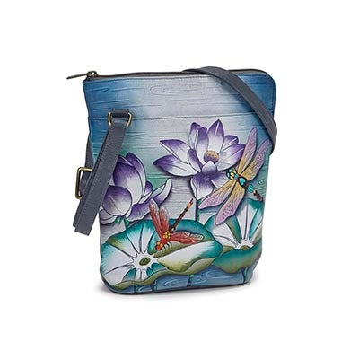 Printed leather Tranquil Pond organizer