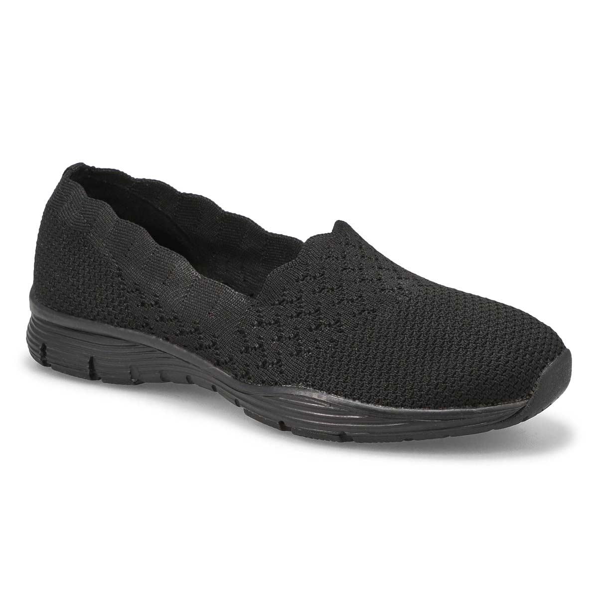 Lds Seager Stat blk/blk slip on shoe