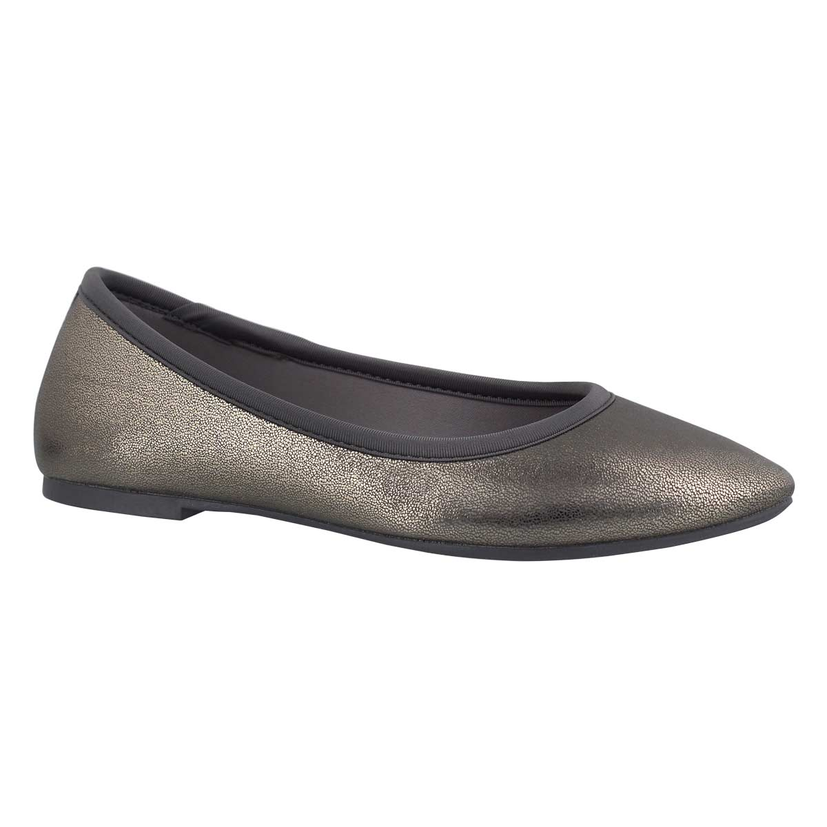 Women's CLEO charcoal metallic casual flats