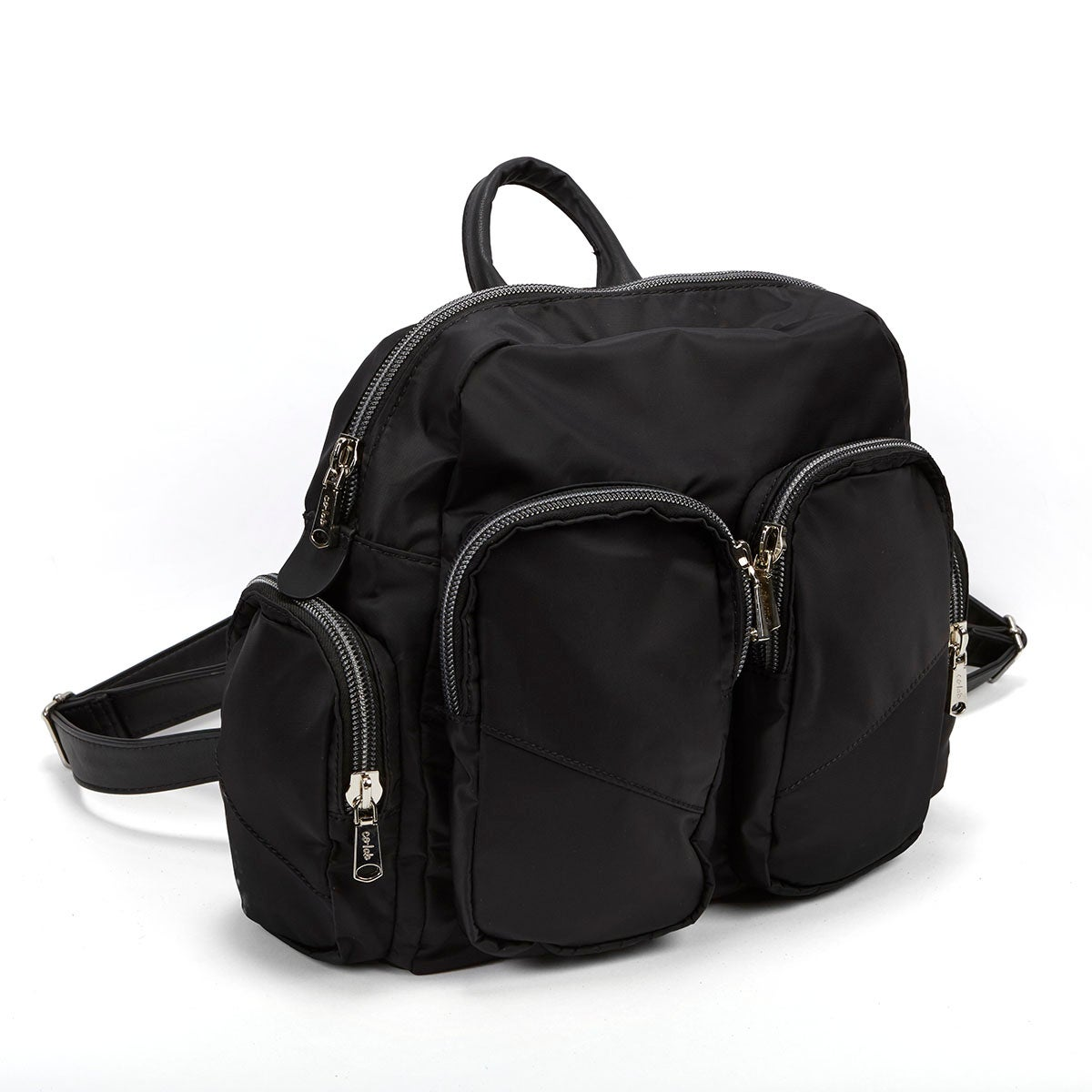 Lds Casual black nylon backpack