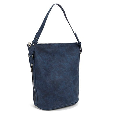 Co-Lab Women's 4984 blue bucket hobo bag