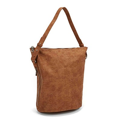 Co-Lab Women's 4984 cognac bucket hobo bag