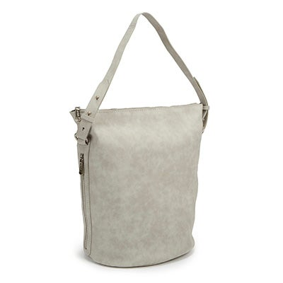 Co-Lab Women's 4984 light grey bucket hobo bag