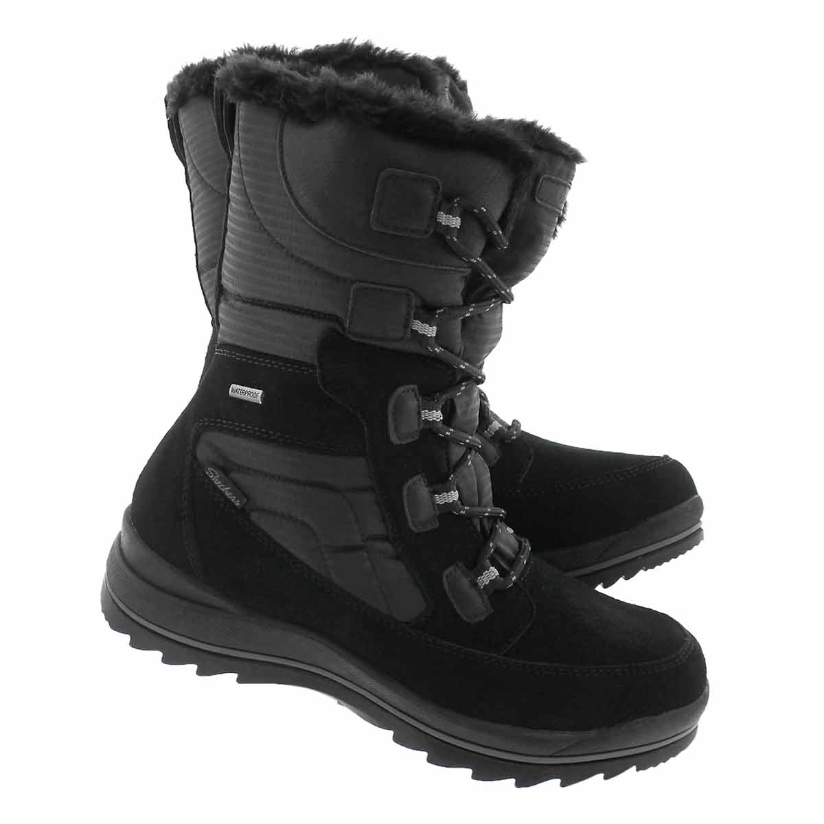 Lds Colorado blk wtpf tall winter boot