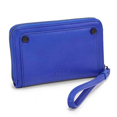 Co-Lab Women's 4993 cobalt zip up mini wallet