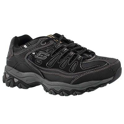 Skechers Men's AFTER BURN black sneakers - WIDTH - 4E