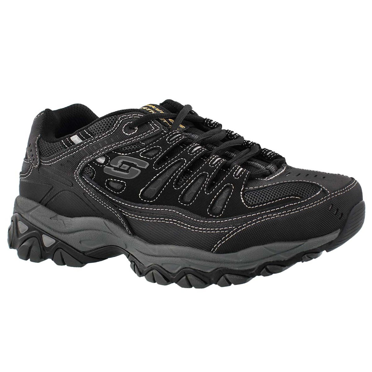 Men's AFTER BURN black sneakers - WIDTH - 4E
