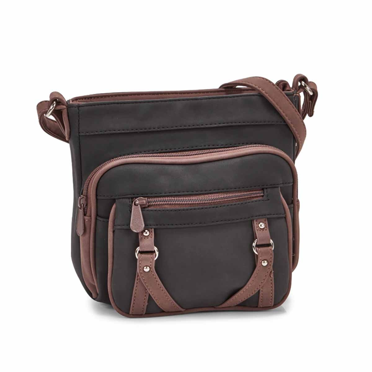 Women's PRIME MINI black/coffee cross body bag