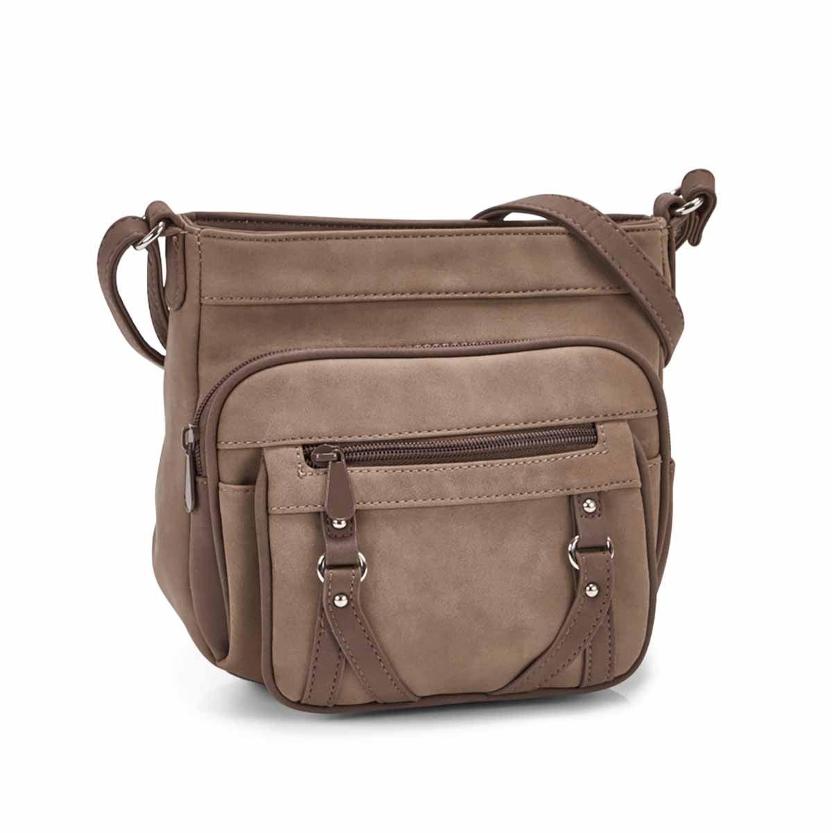 Women's PRIME MINI sand/coffee cross body bag