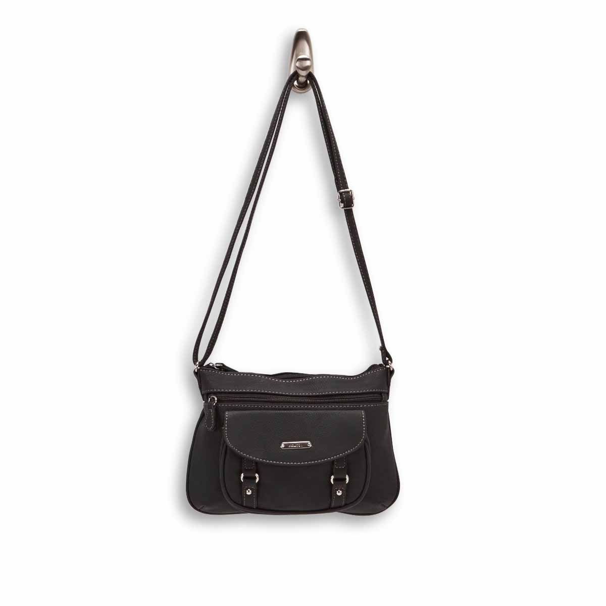 Lds Vera black small cross body bag
