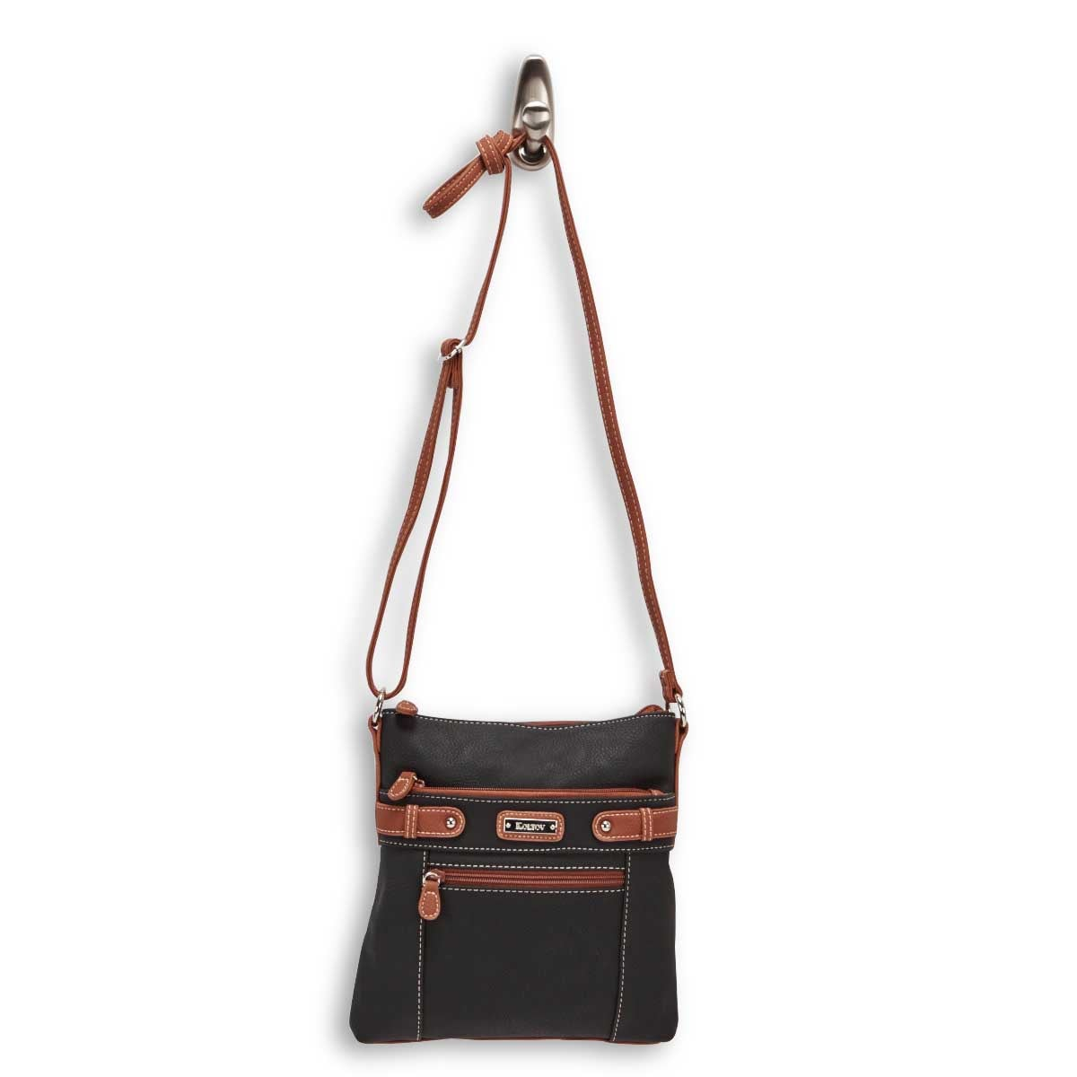 Lds Sally blk/hazel small cross body bag