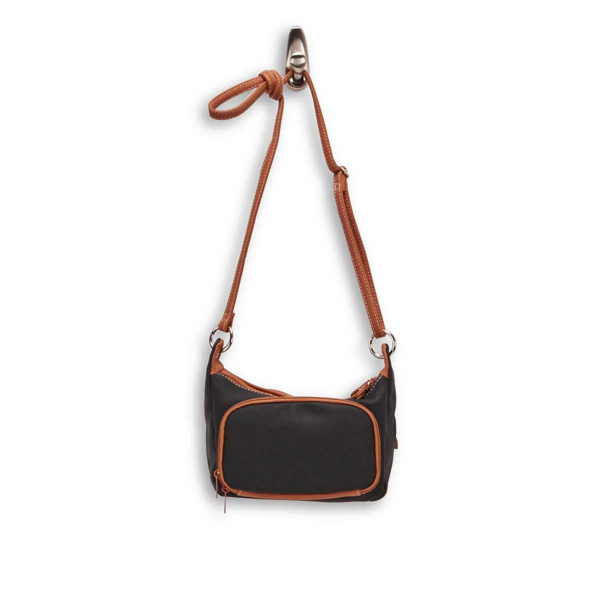 Lds Palmer blk/cgnc cross body bag