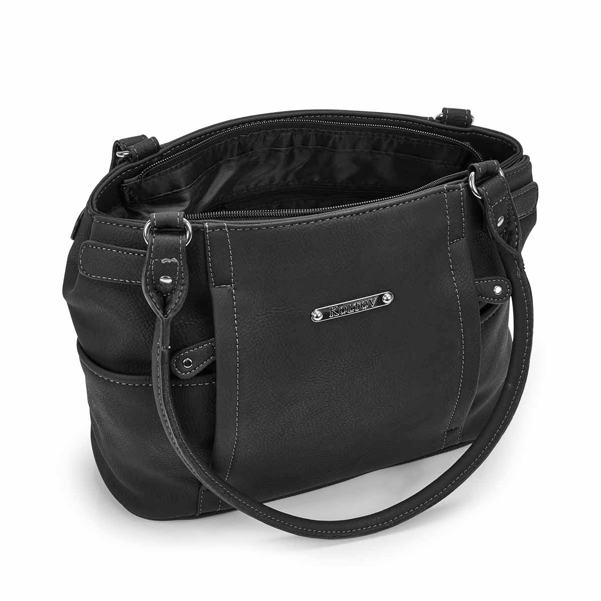 Lds Strathmore black small shoulder bag